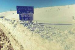 Sertavul Geçidi kar yağışı nedeniyle trafiğe kapandı