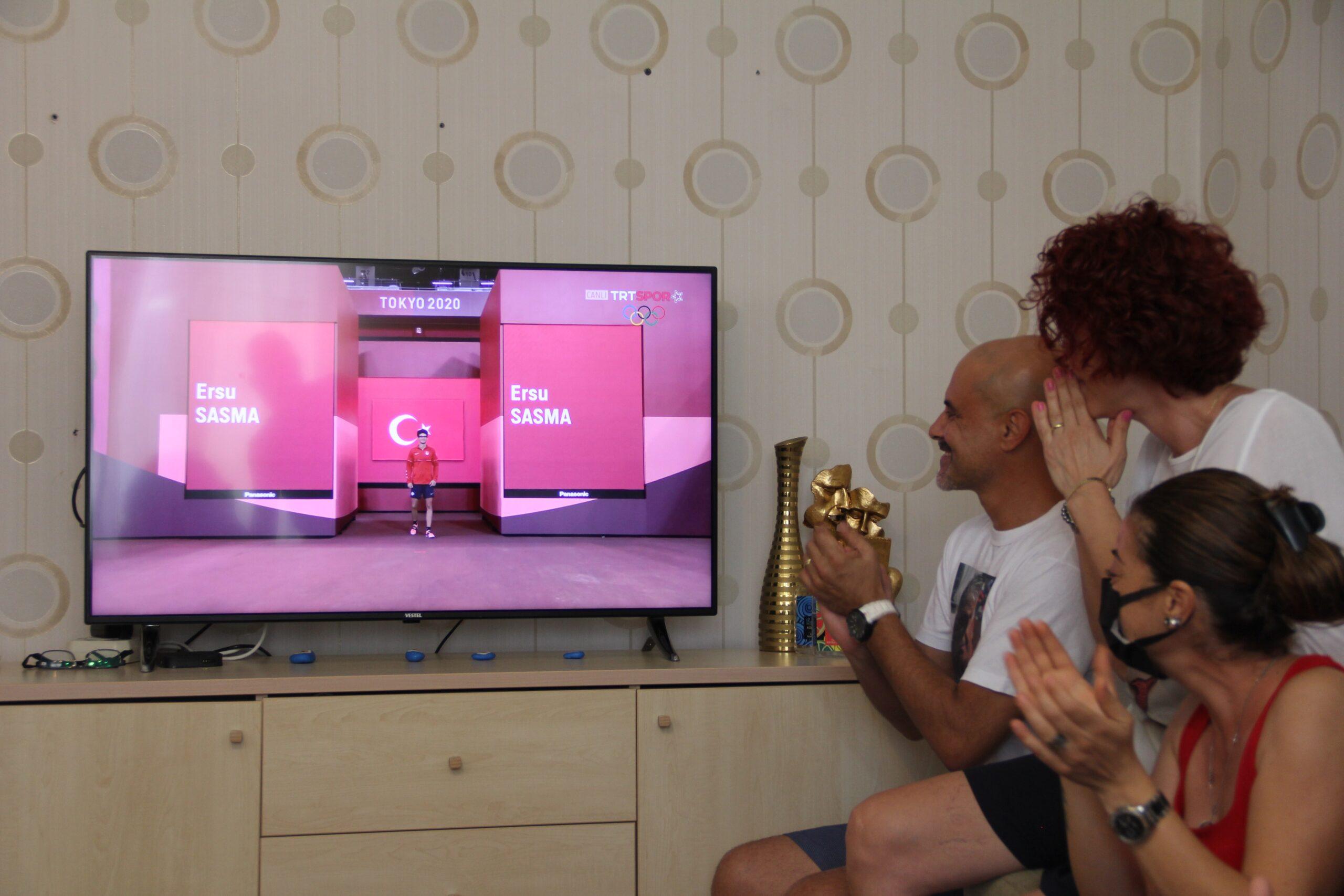 Milli Sporcunun evinde heyecan doruğa çıktı