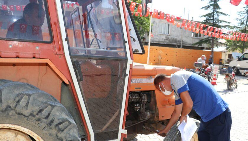 Araç muayene hizmeti çiftçinin ayağına geldi