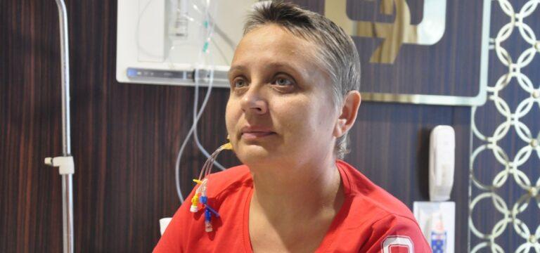 Ukraynalı Nadia, Mersin'de sağlığına kavuştu