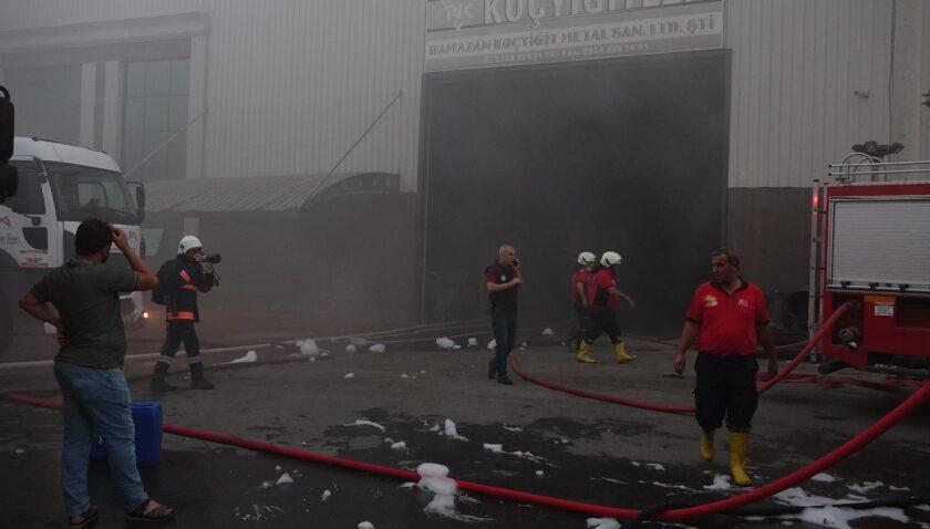 Mersin Hurdacılar Sitesi'nde yangın