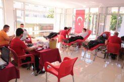 Mersin'de jandarma personelinden kan bağışı desteği